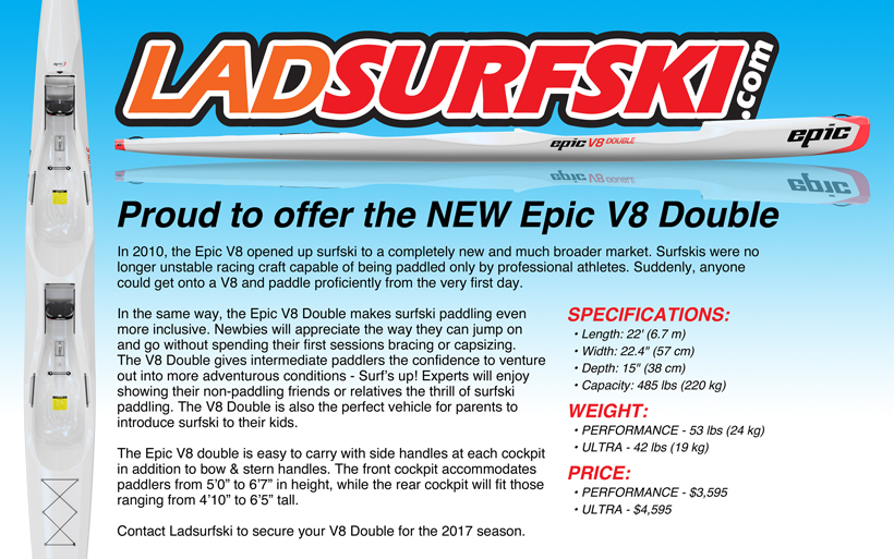 Epic V8 Double tandem surfski